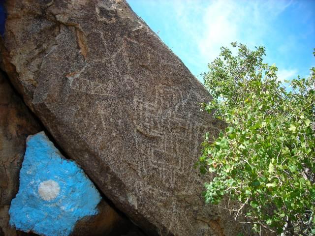 Petroglyphs near Chloride, AZ